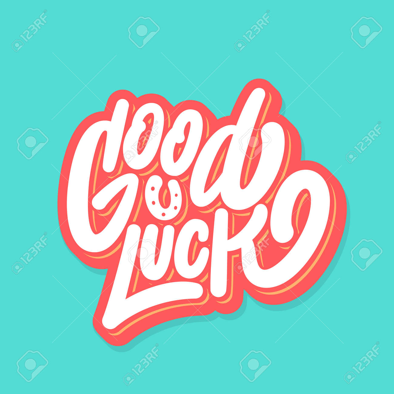 Good luck. Farewell card. Vector lettering. - 150343923