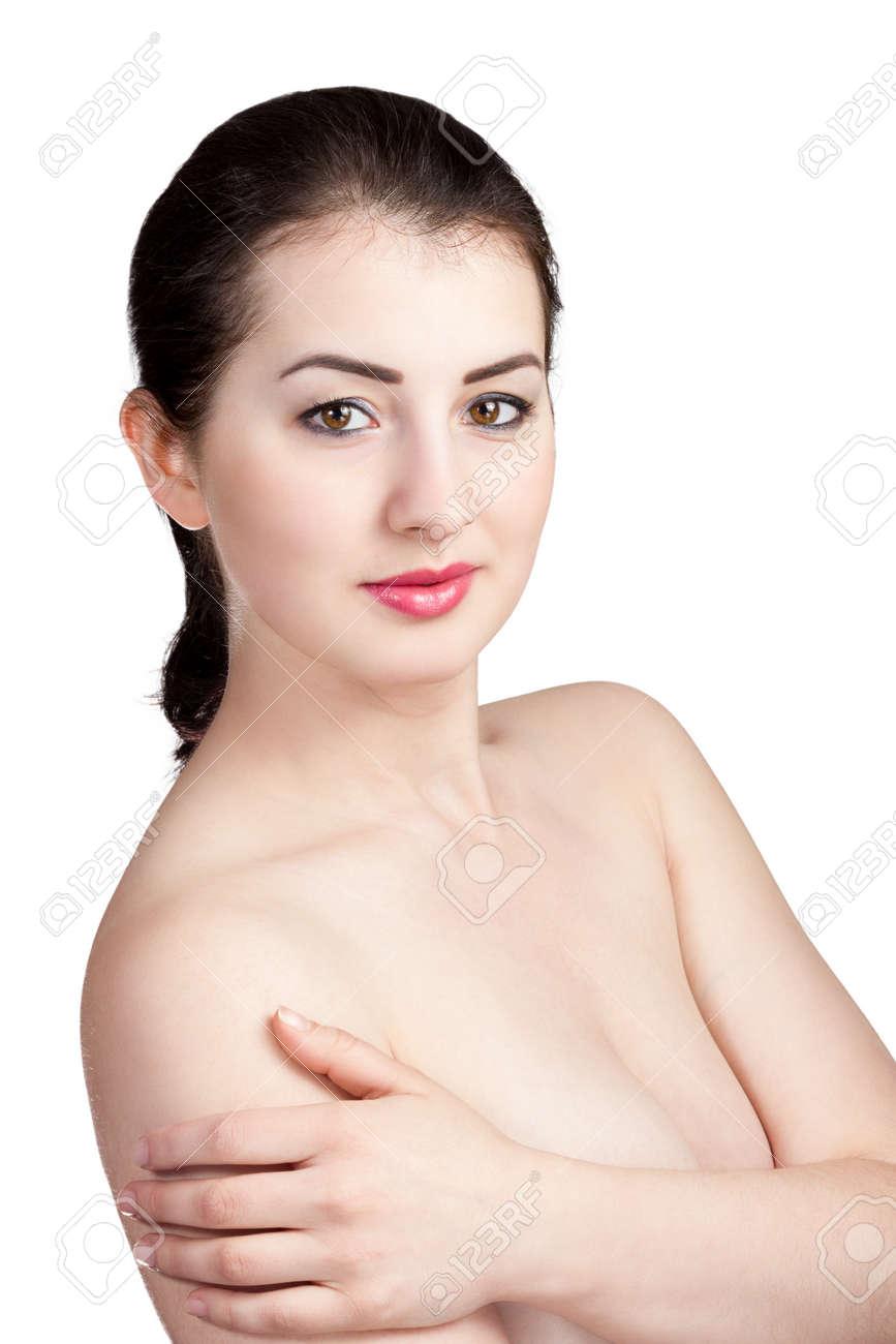 Nude girl in woods