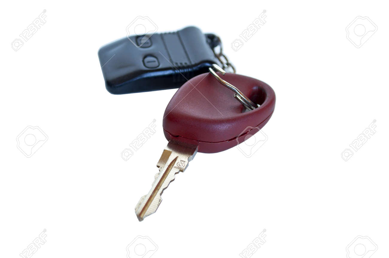Car key with remote on white background Stock Photo - 11677620