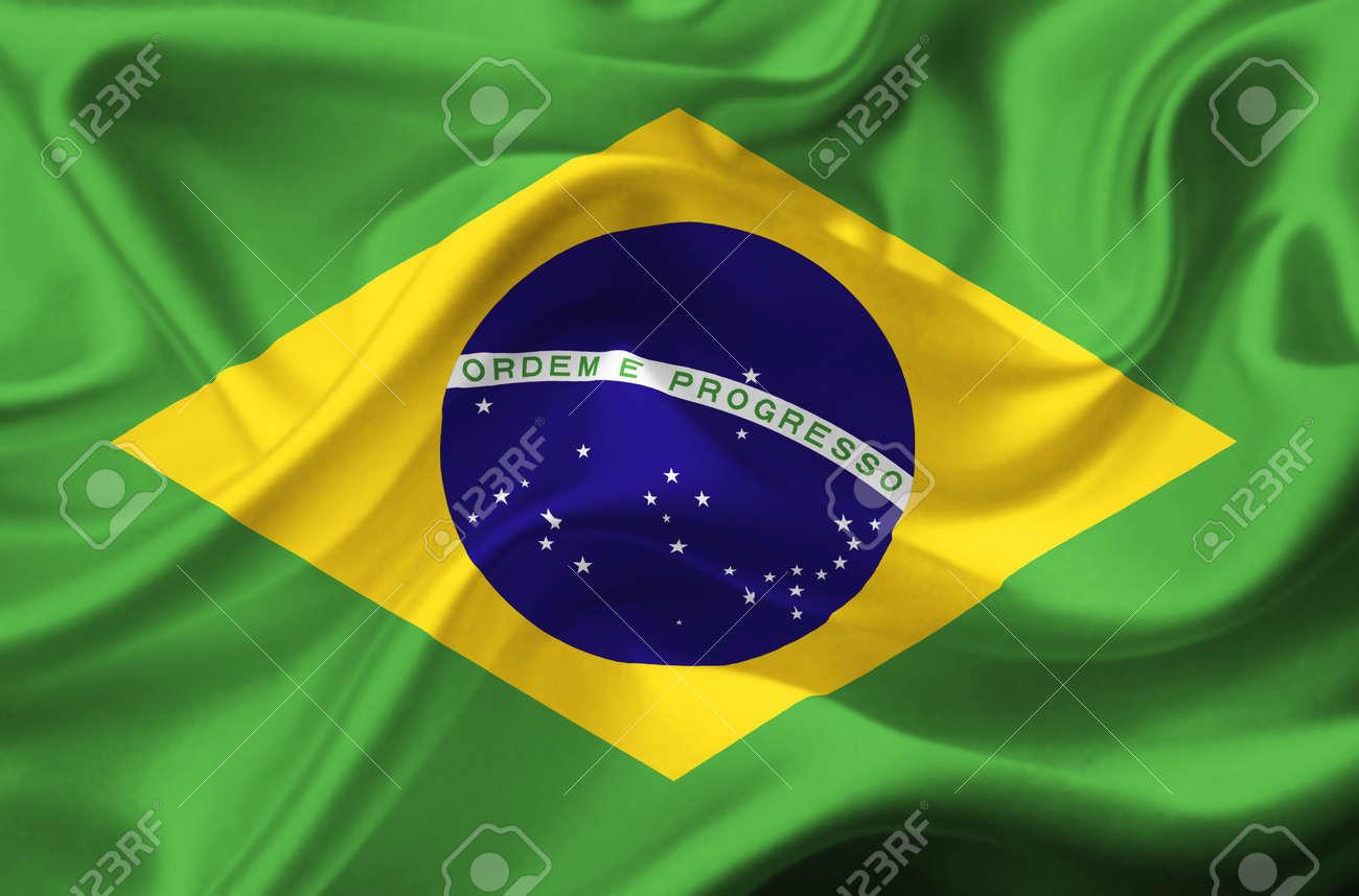 Handmade watercolor brazil flag brasil stock photos freeimages com - Brasil Flag Brazil Waving Flag Stock Photo
