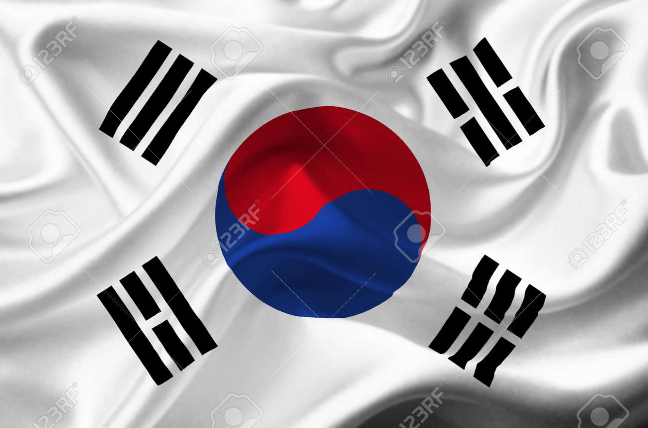 South Korea Waving Flag Stock Photo Picture And Royalty Free Image