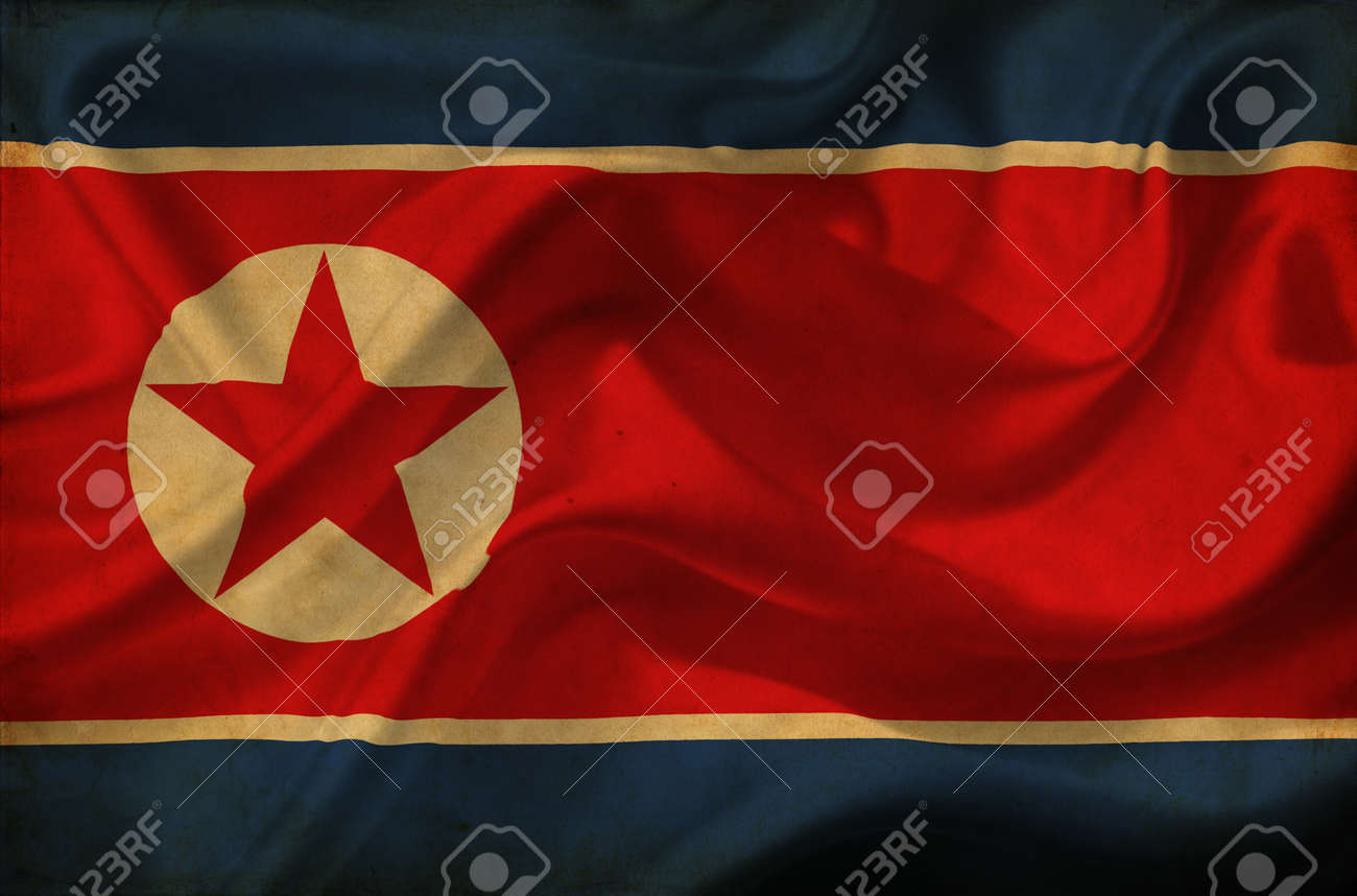 North Korea waving flag Stock Photo - 12647093