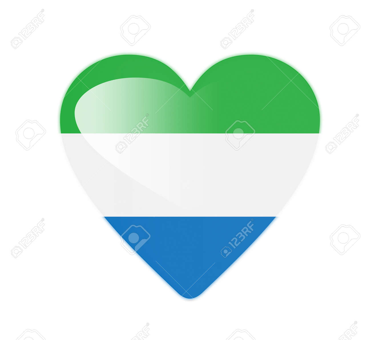 Sierra Leone 3D heart shaped flag Stock Photo - 13245760