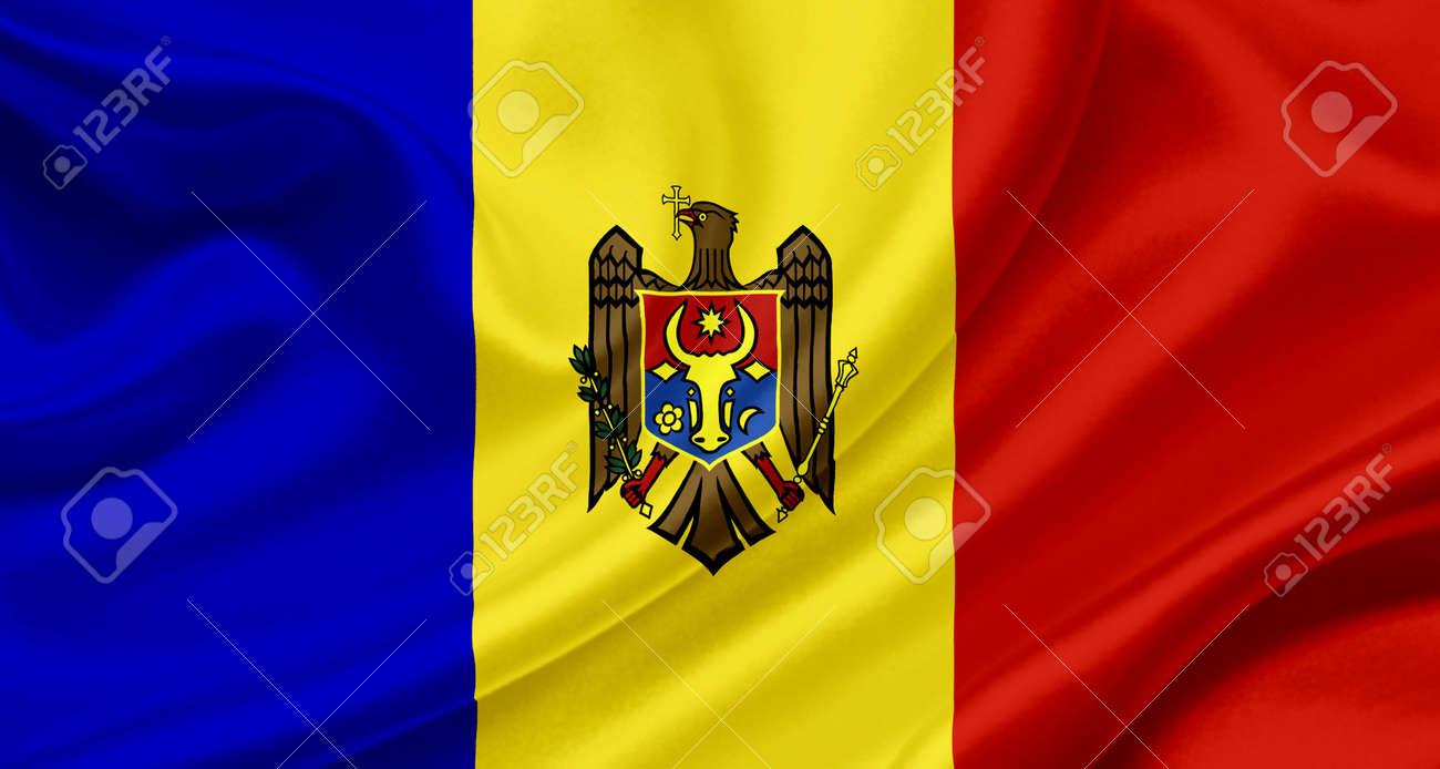 Moldova waving flag Stock Photo - 13329561