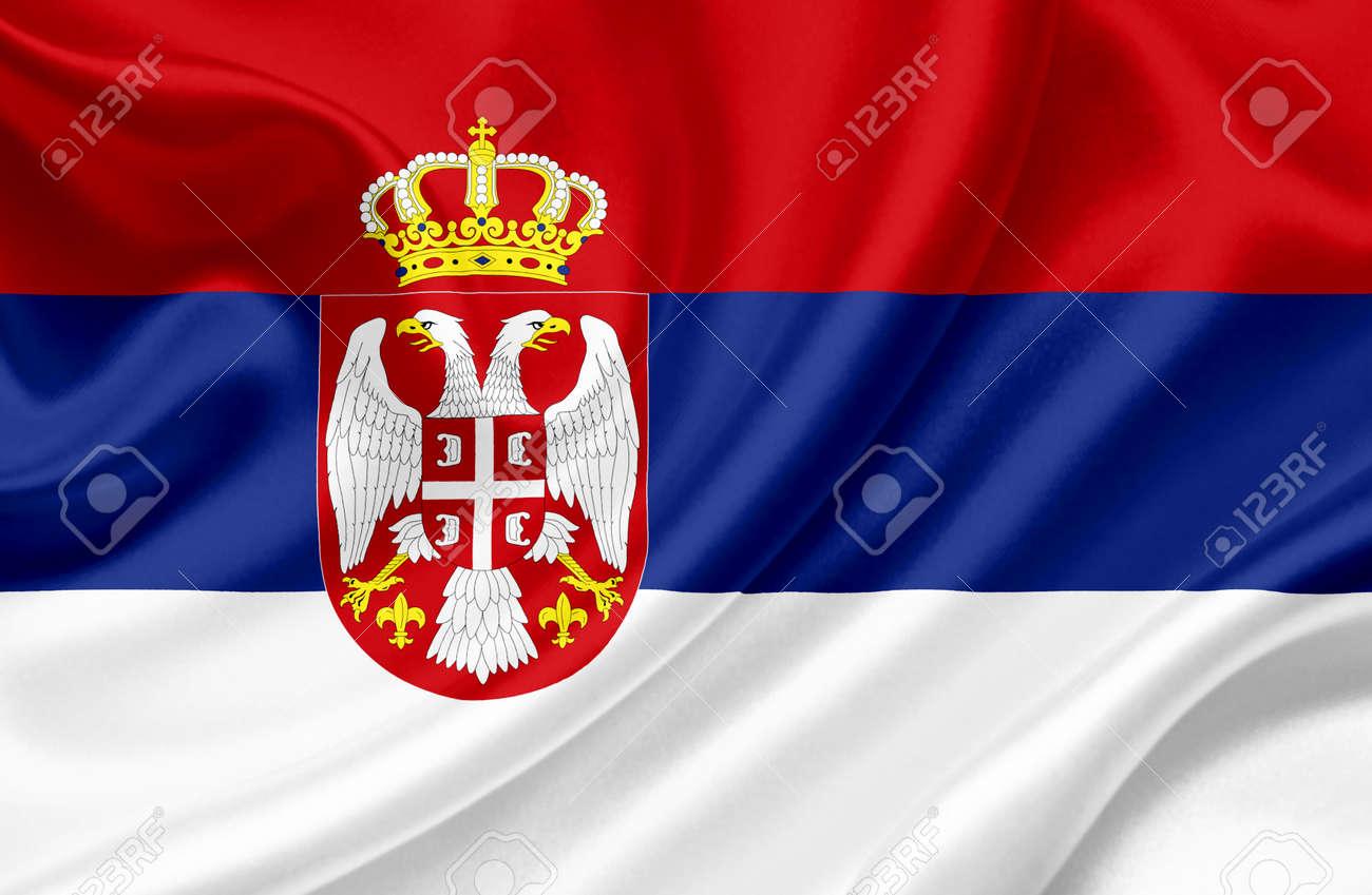 Serbia waving flag Stock Photo - 13329698