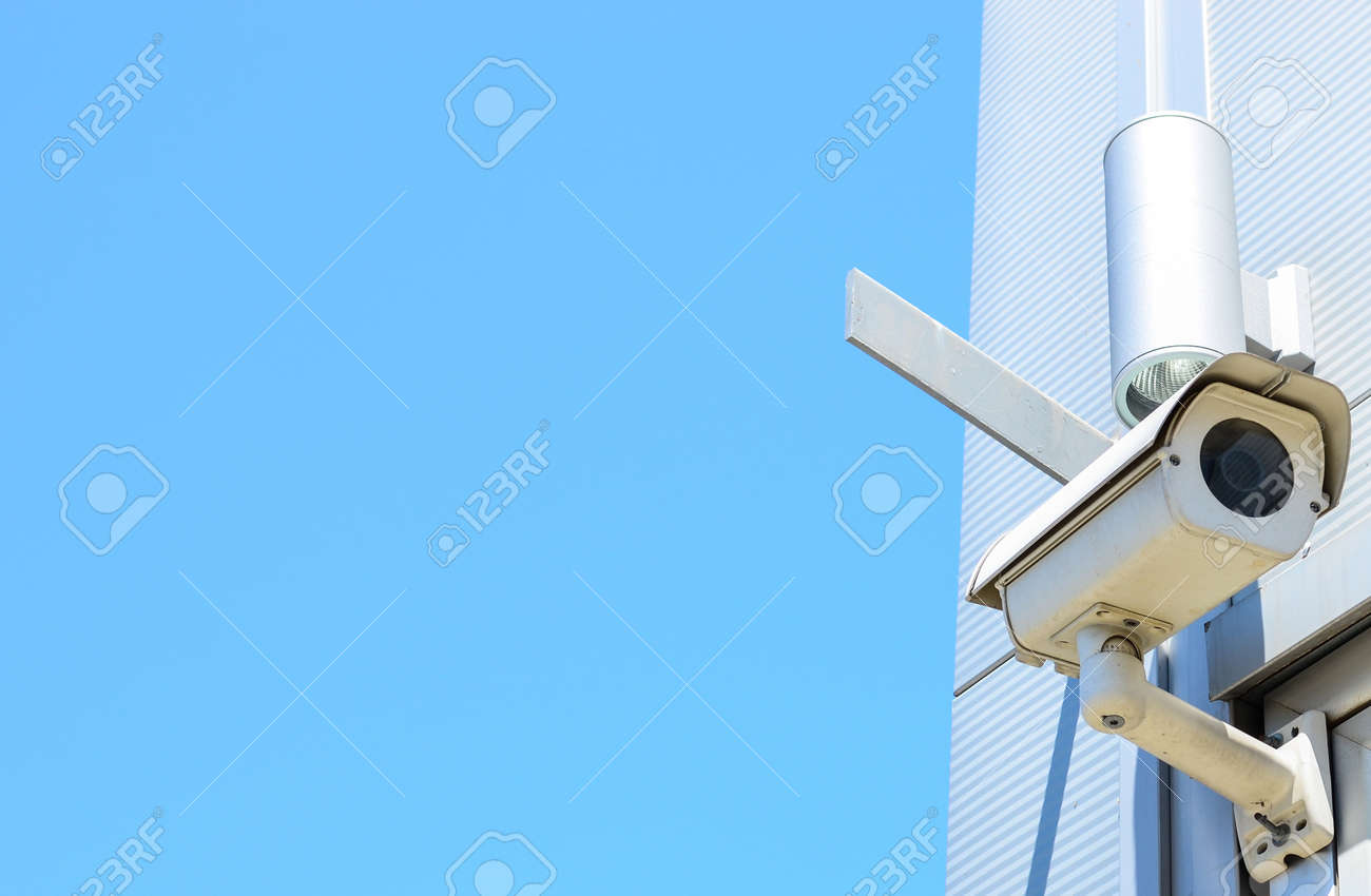 Camera system on building Stock Photo - 14256148