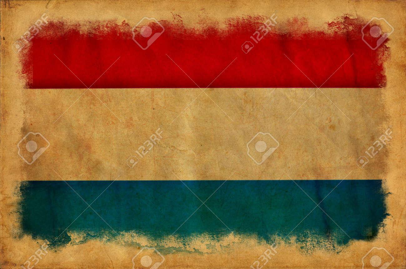 Holland grunge flag Stock Photo - 14296442
