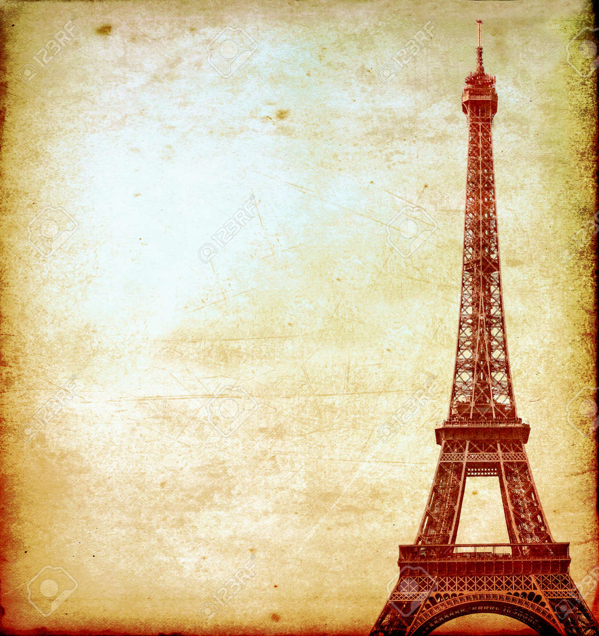 Eiffel tower vintage postcard stock photo picture and royalty eiffel tower vintage postcard stock photo 16402833 jeuxipadfo Images