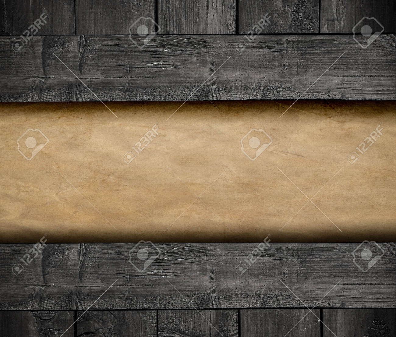 Paper on wood background Stock Photo - 17231005