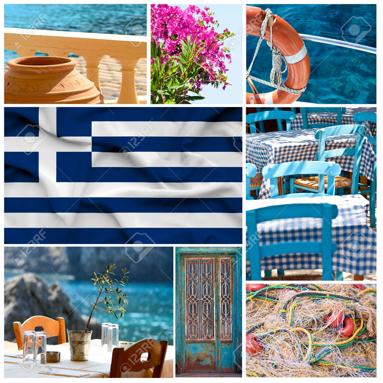 Greece collage Stock Photo - 17996688