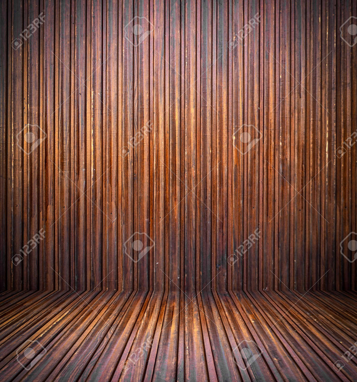 Abstract interior with parquet wooden floor Stock Photo - 18446236