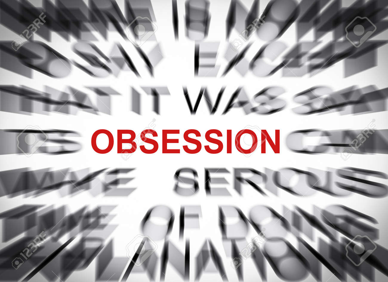 Blured text with focus on OBSESSION - 23056411