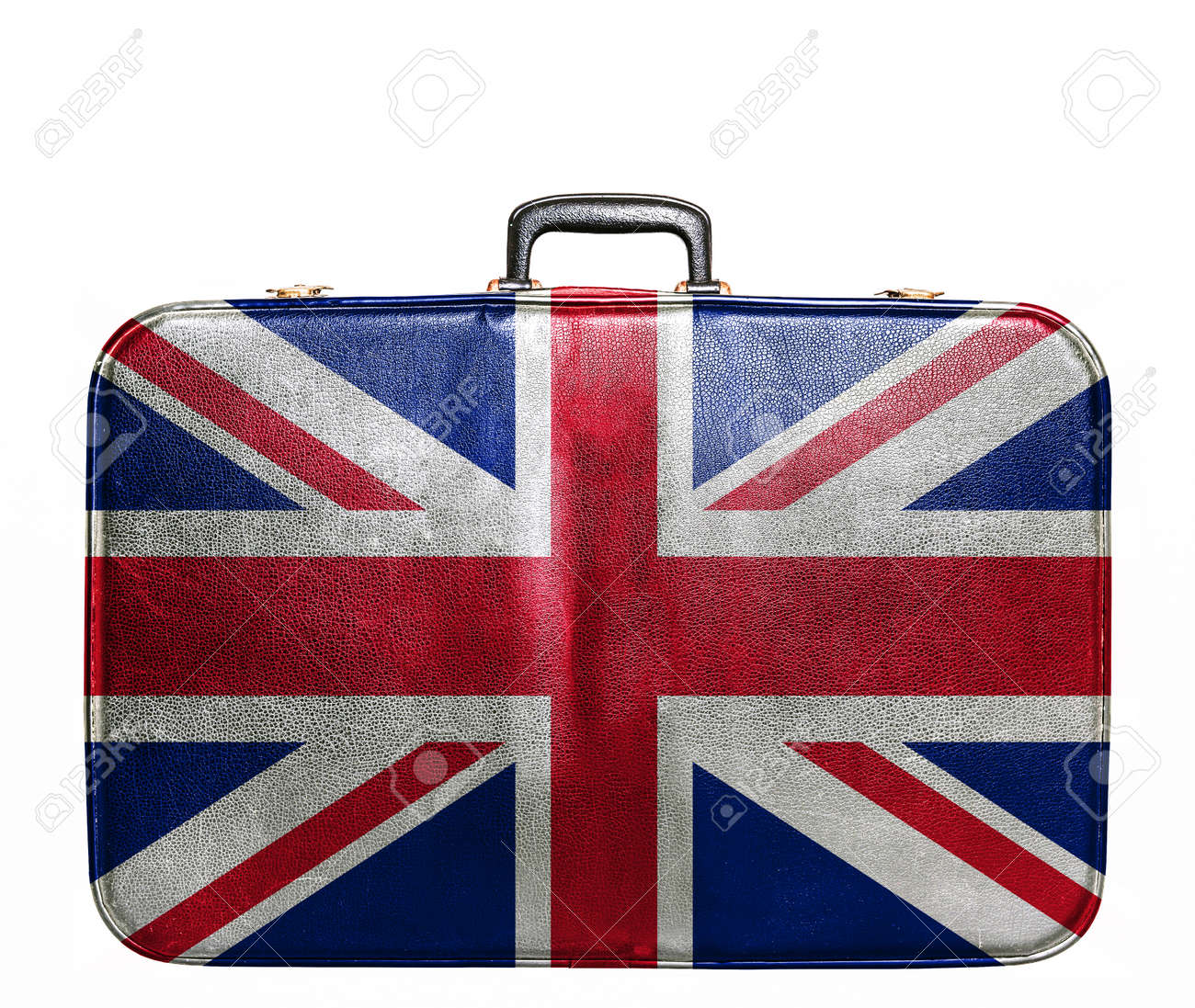 Vintage travel bag with flag of Great Britain - 25443110