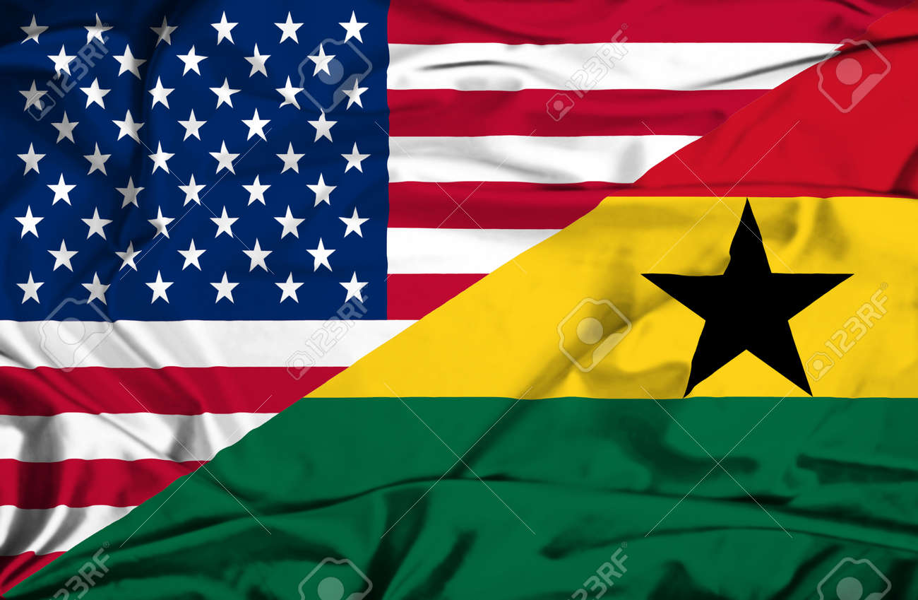 Ghana Flag Waving