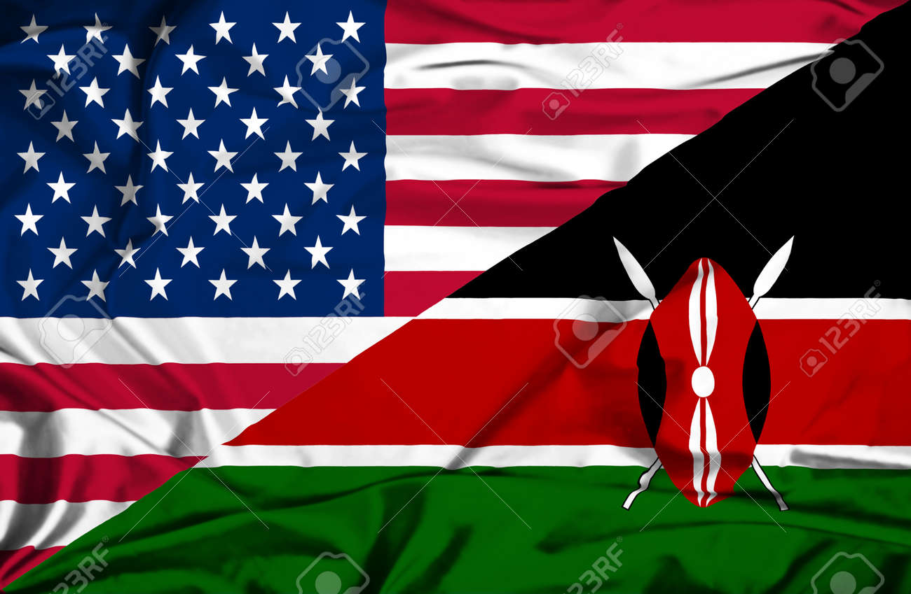 Image result for kenyan and american flag