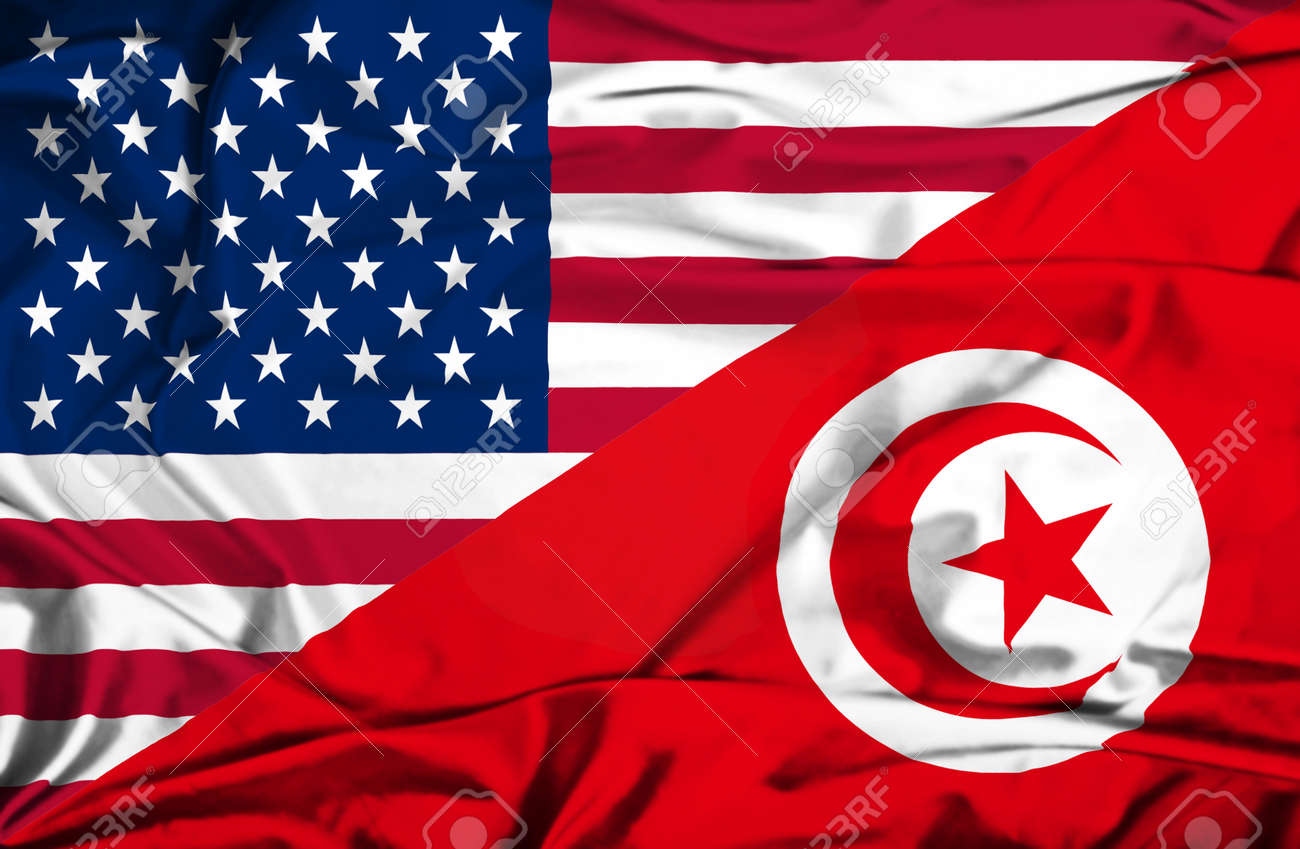 Waving Flag Of Tunisia And Usa Stock Photo Picture And Royalty Free Image Image 27767743
