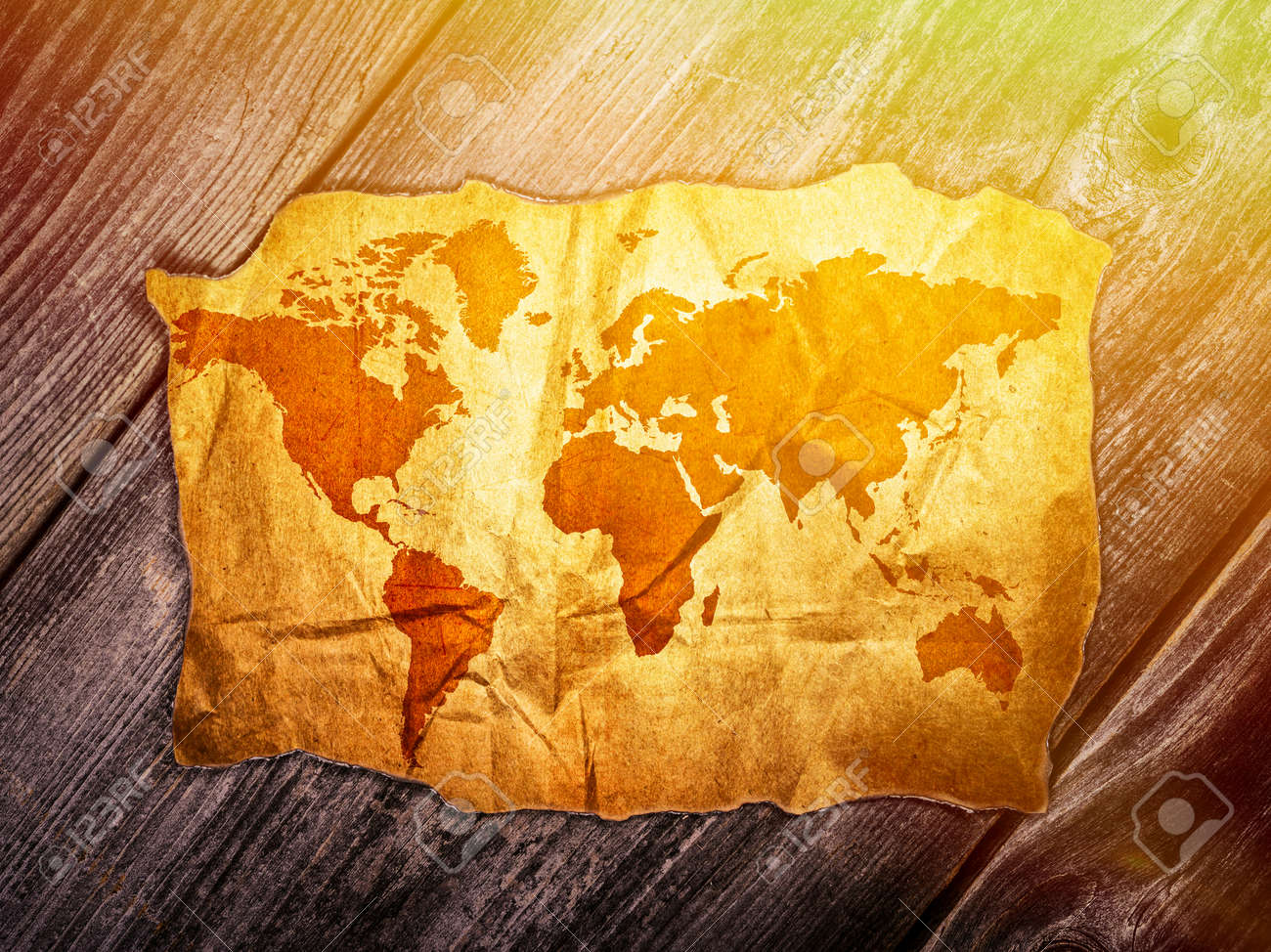 Old world map over wooden background stock photo picture and old world map over wooden background stock photo 40201063 gumiabroncs Images