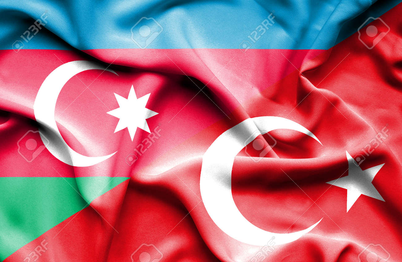 Waving Flag Of Turkey And Azerbaijan Stock Photo Picture And Royalty Free Image Image 54262159
