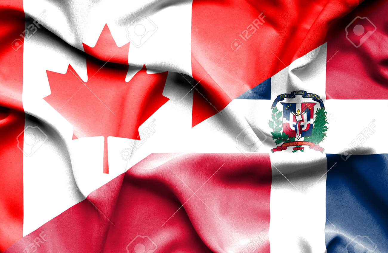 Waving Flag Of Dominican Republic And Canada Fotos, Retratos ...