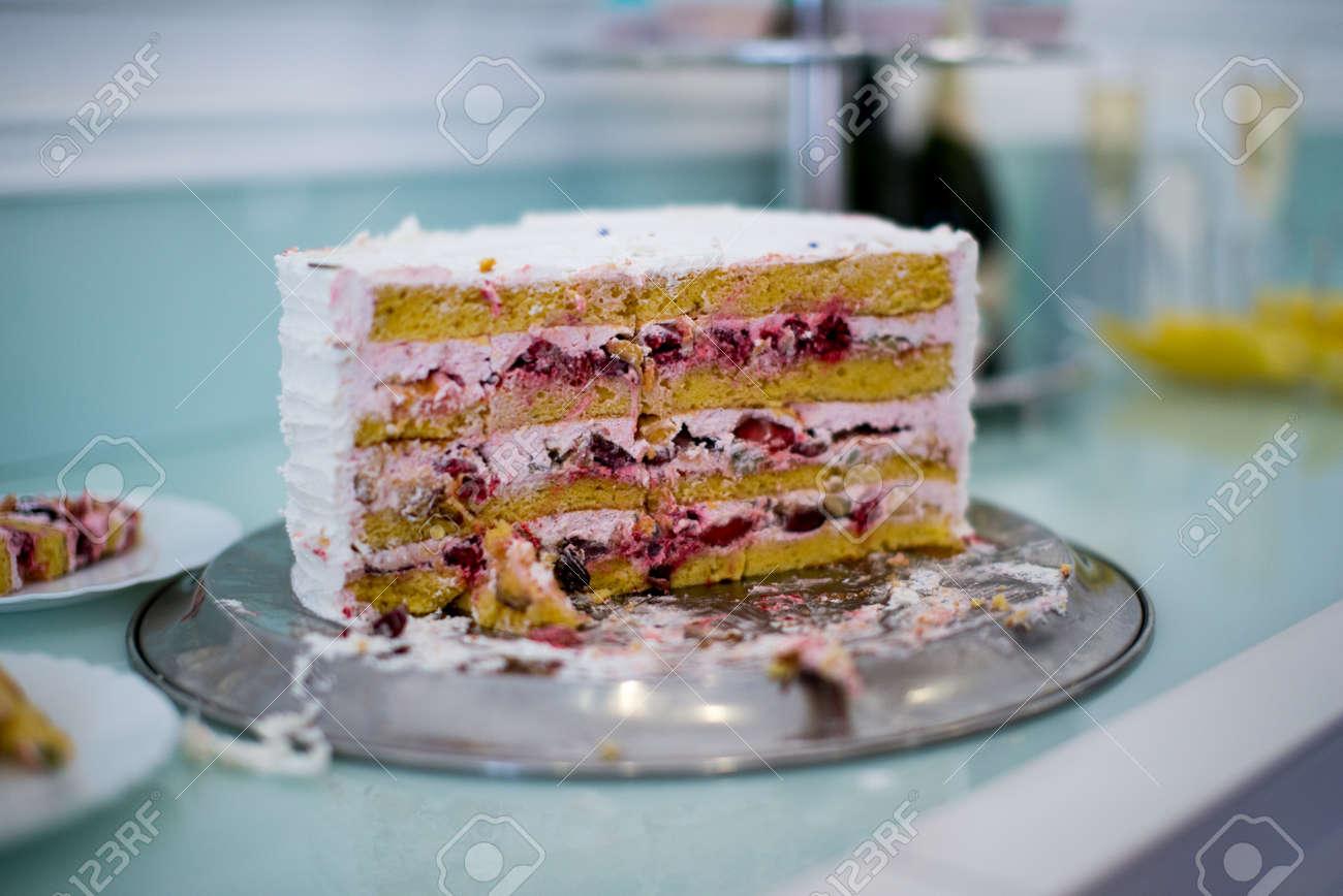Sussigkeiten Bar Marshmallow Auf Dem Tisch Makrone Kuchen Und