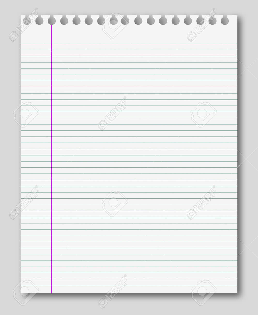 Blank White Paper Background From Lined Page Stock Photo   35963755  Lined Page