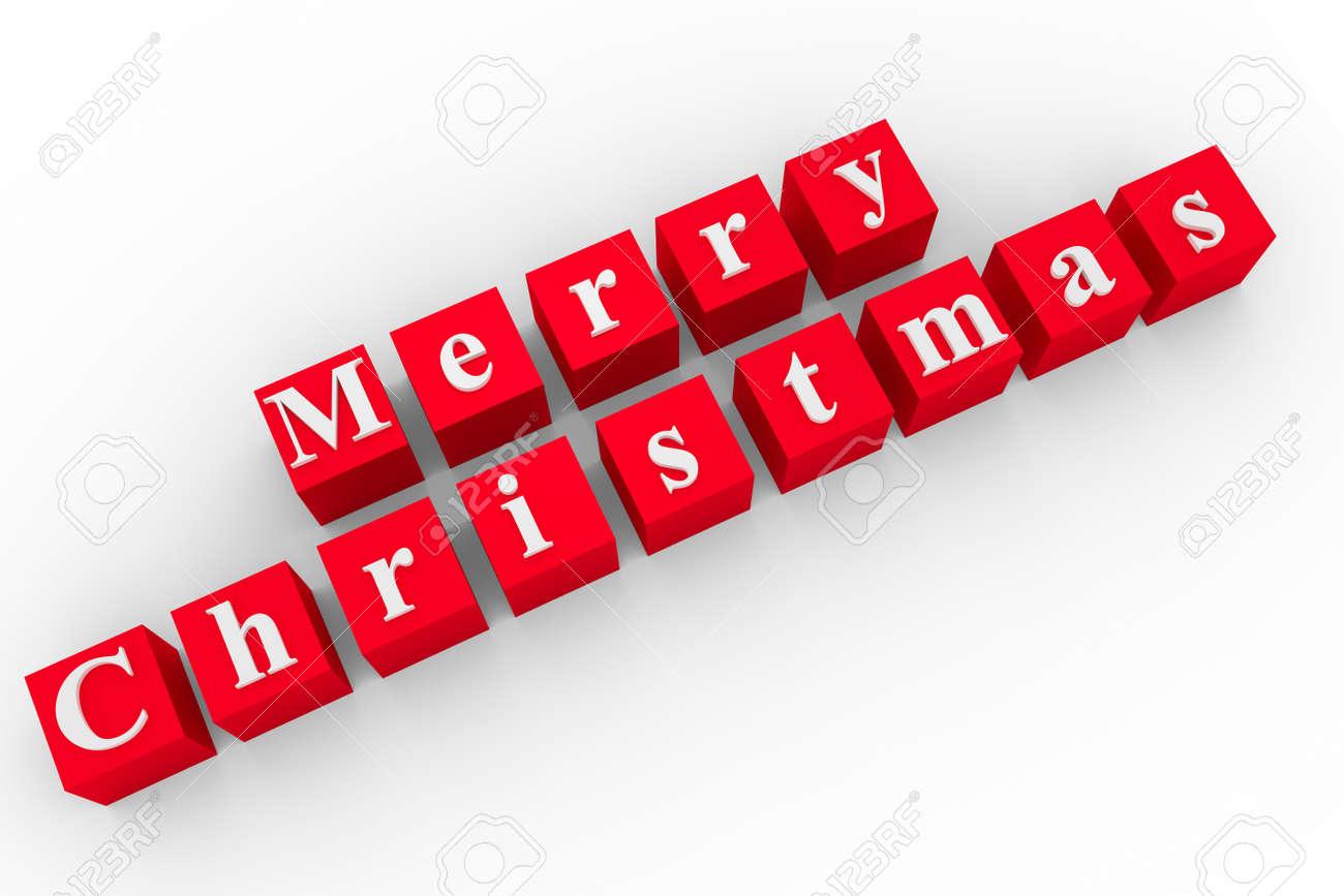 Parole Di Buon Natale.Cubi Rossi Con Le Parole Di Buon Natale Isolato Su Bianco