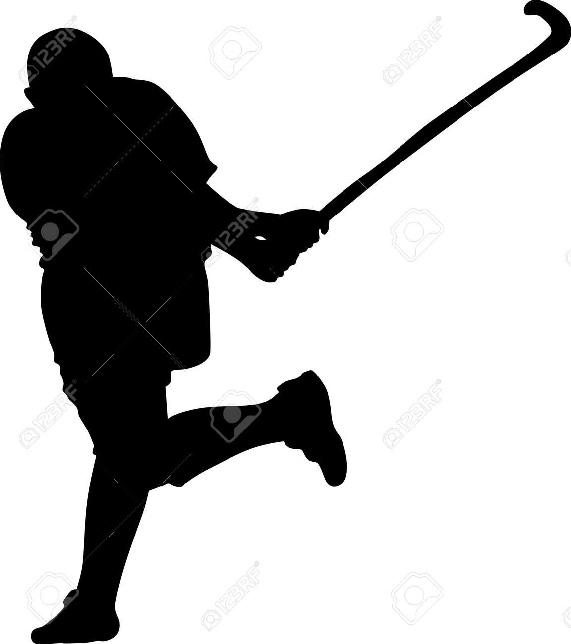 Field Hockey Silhouette on white background - stock vector | Field hockey,  Hockey posters, Hockey inspiration