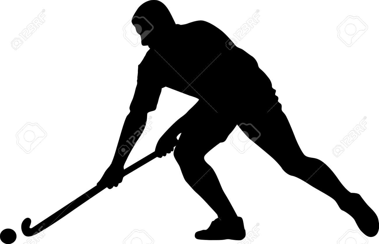 Hockey silhouette | Etsy