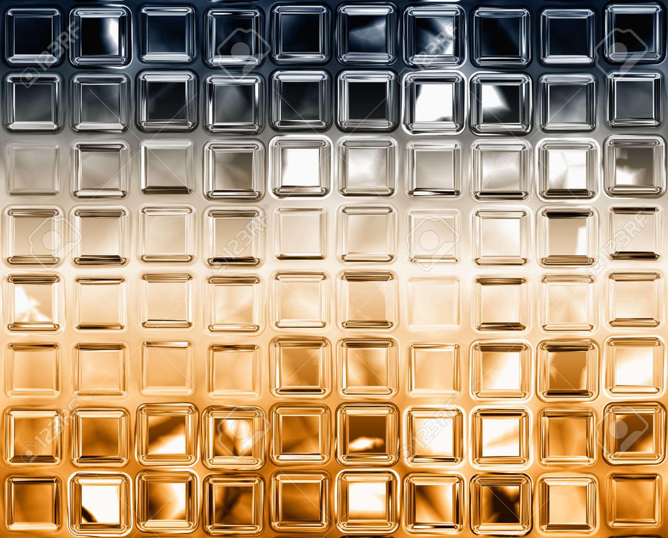 Astratto generato argento oro piastrelle superficie di sfondo foto