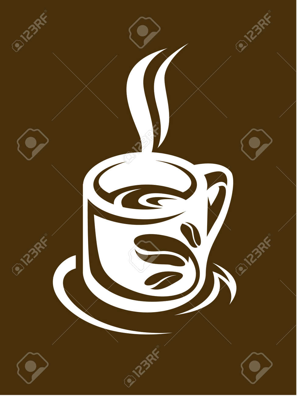 Abstract Coffee Cup And Saucer Royalty Free Cliparts Vectors And Stock Illustration Image 11650282