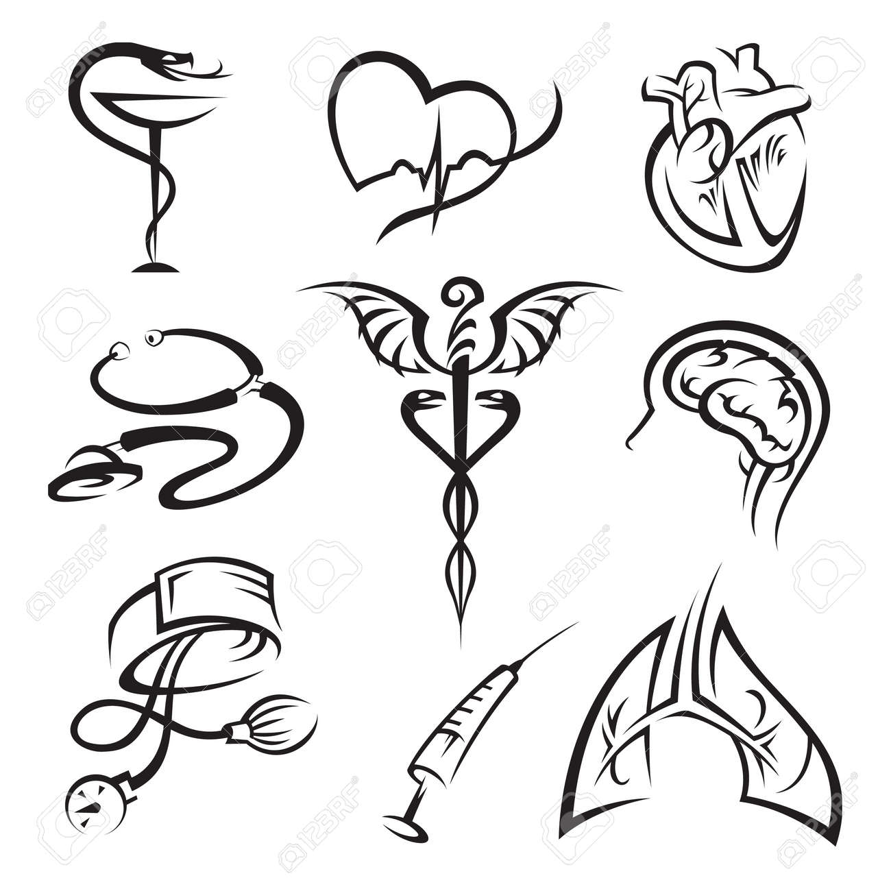 medical icons set Stock Vector - 11650111