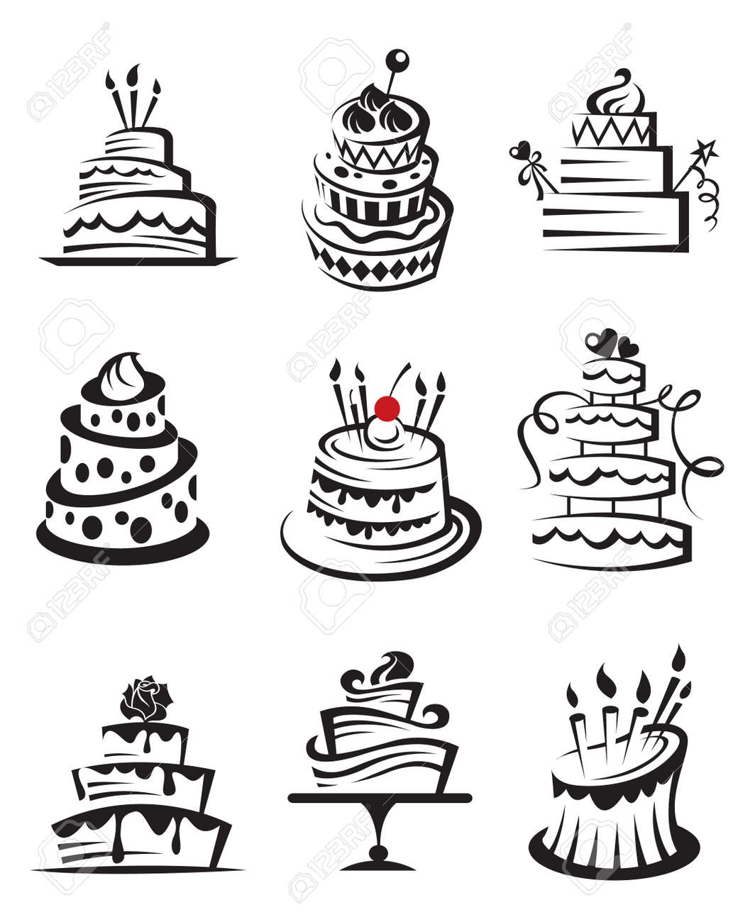 set of cakes Stock Vector - 14123451