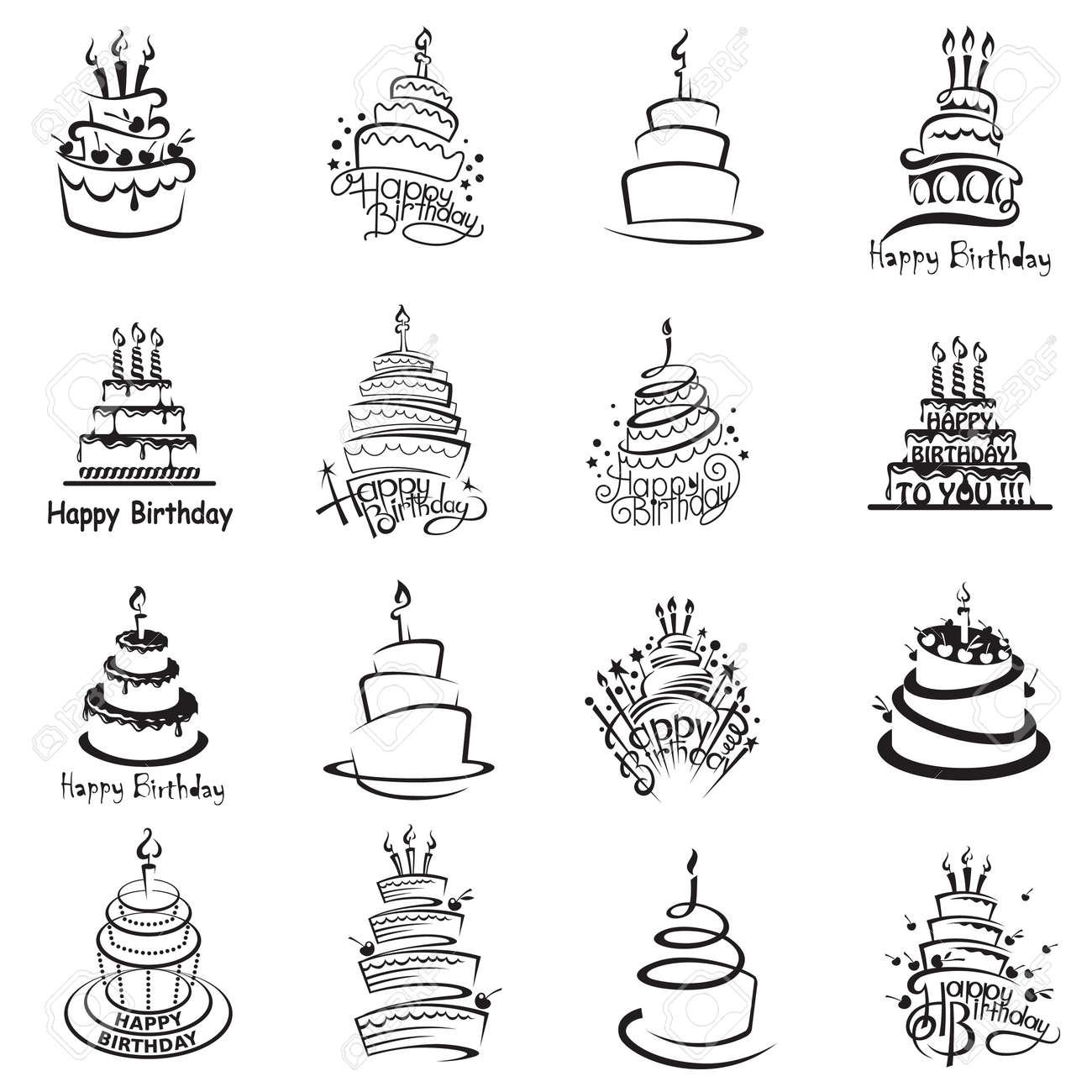 monochrome set of sixteen cakes - 51290882