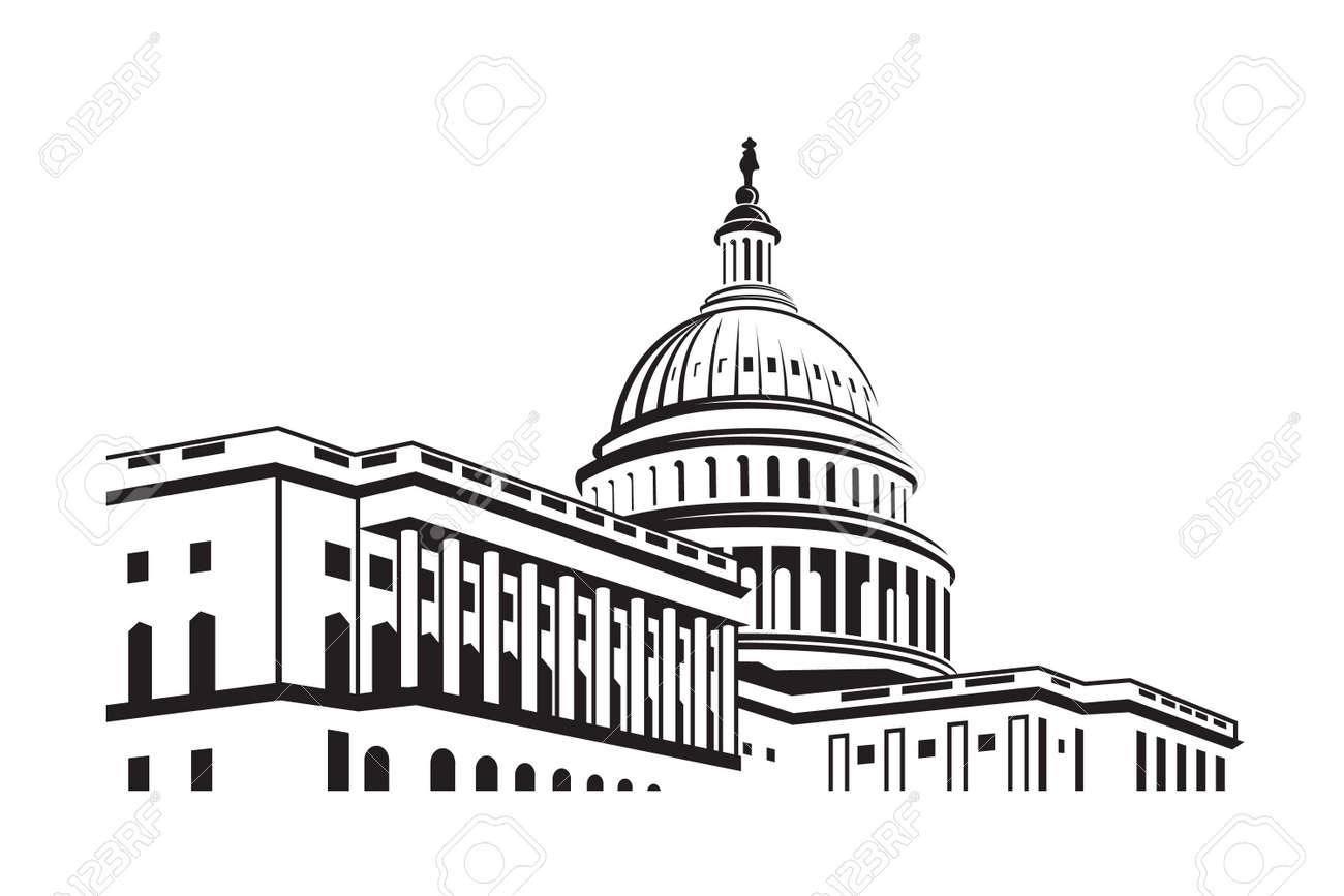 United States Capitol building icon in Washington DC - 82113153