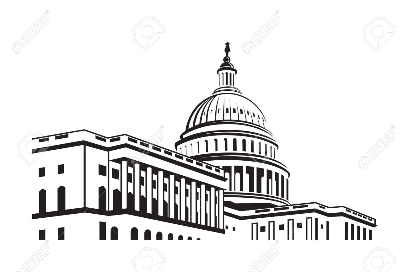 united states capitol building icon in washington dc royalty free rh 123rf com texas capitol building vector capitol records building vector