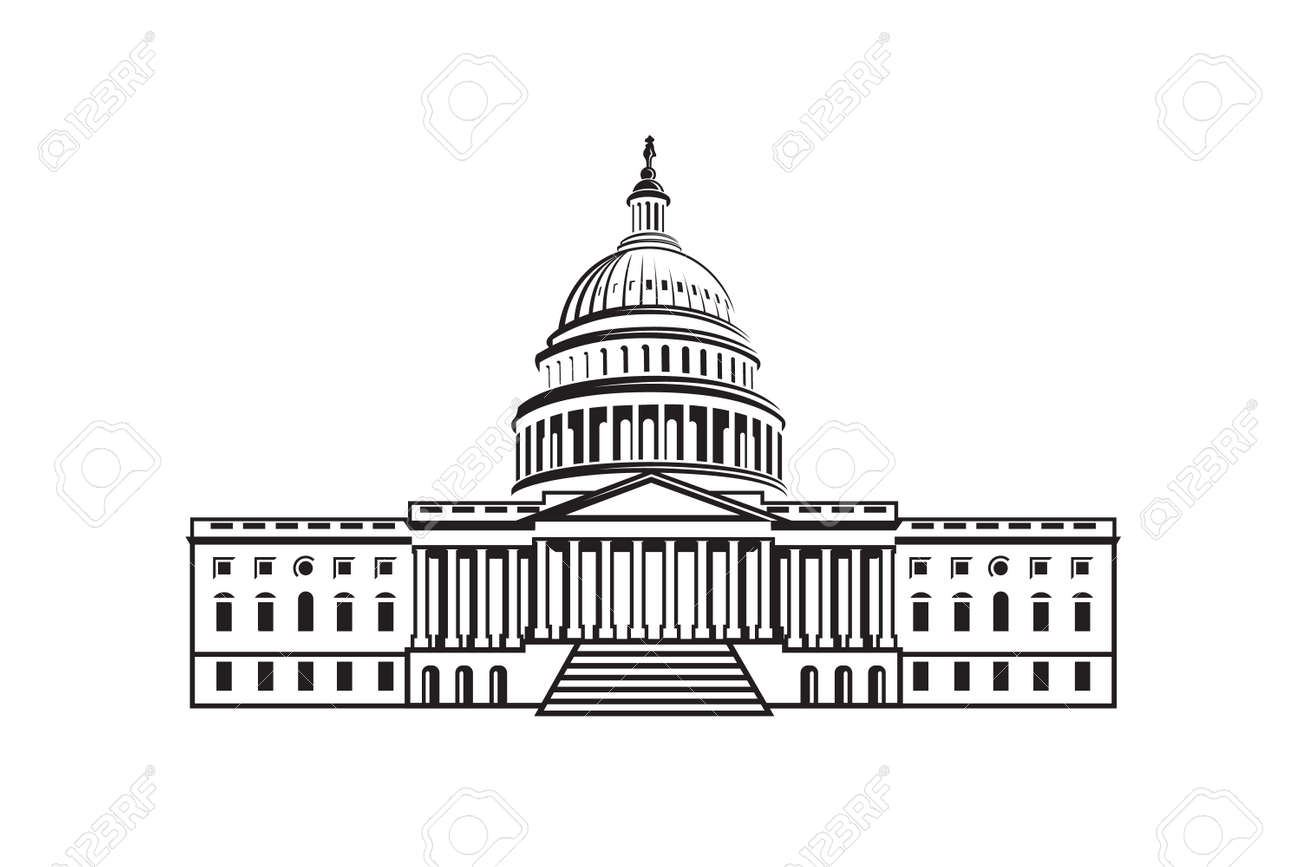 united states capitol building icon in washington dc royalty free rh 123rf com capitol building clipart black and white us capitol building clipart