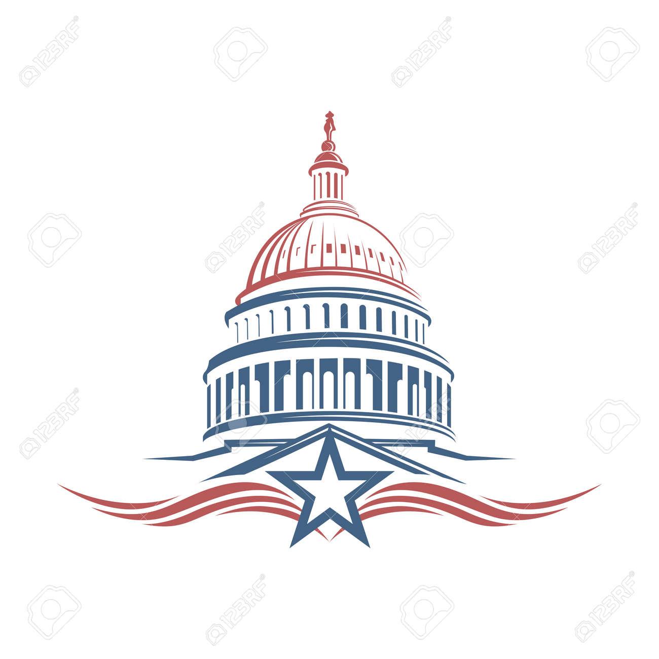United States Capitol building icon in Washington DC - 97529798