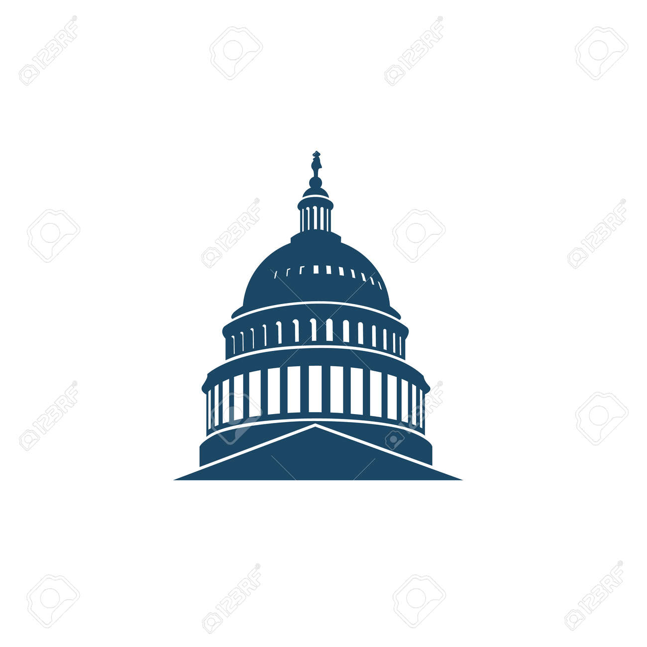 United States Capitol building icon in Washington DC - 104411568
