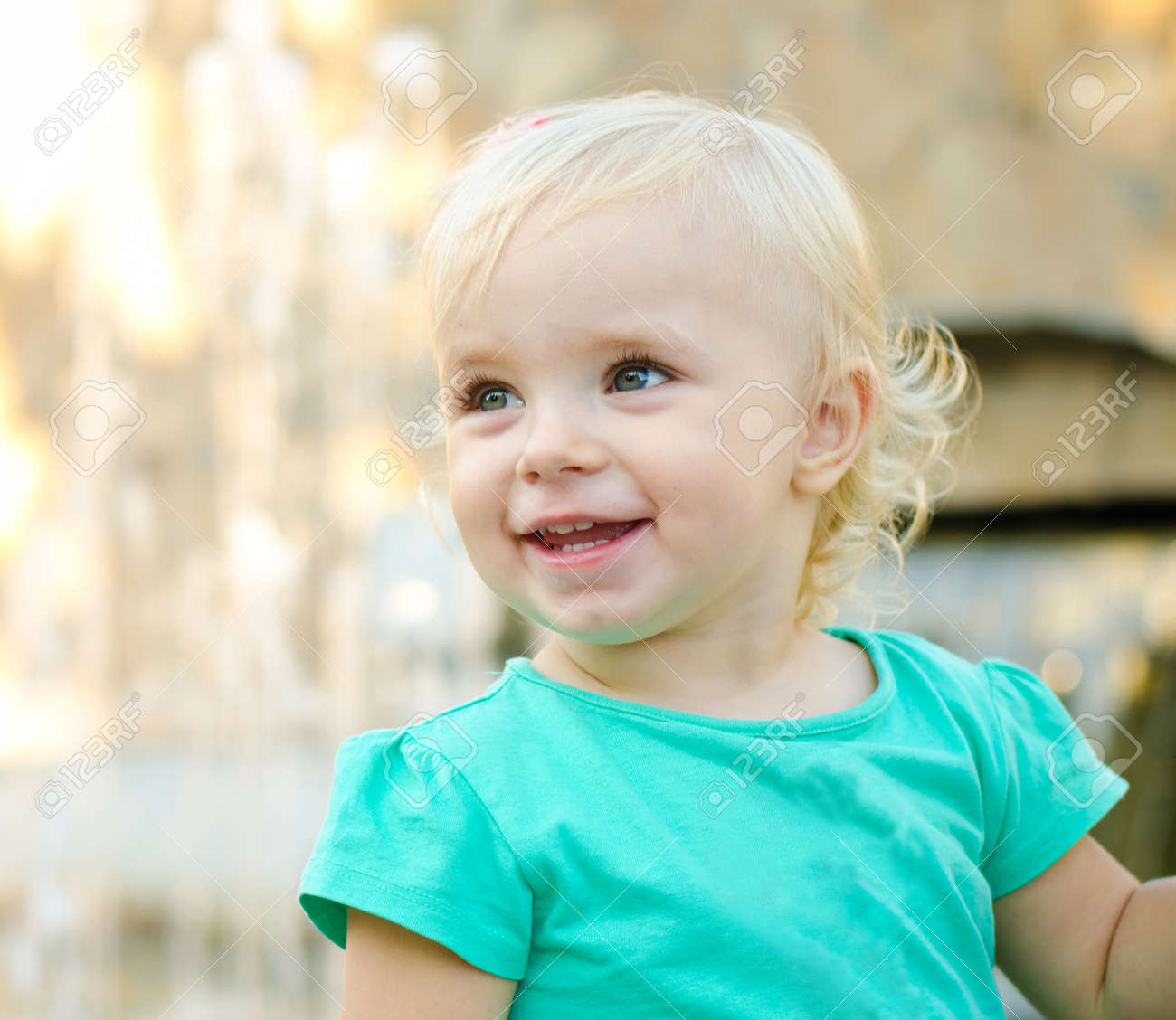 Emotional Little Girl with funny Face Expression - 25546141