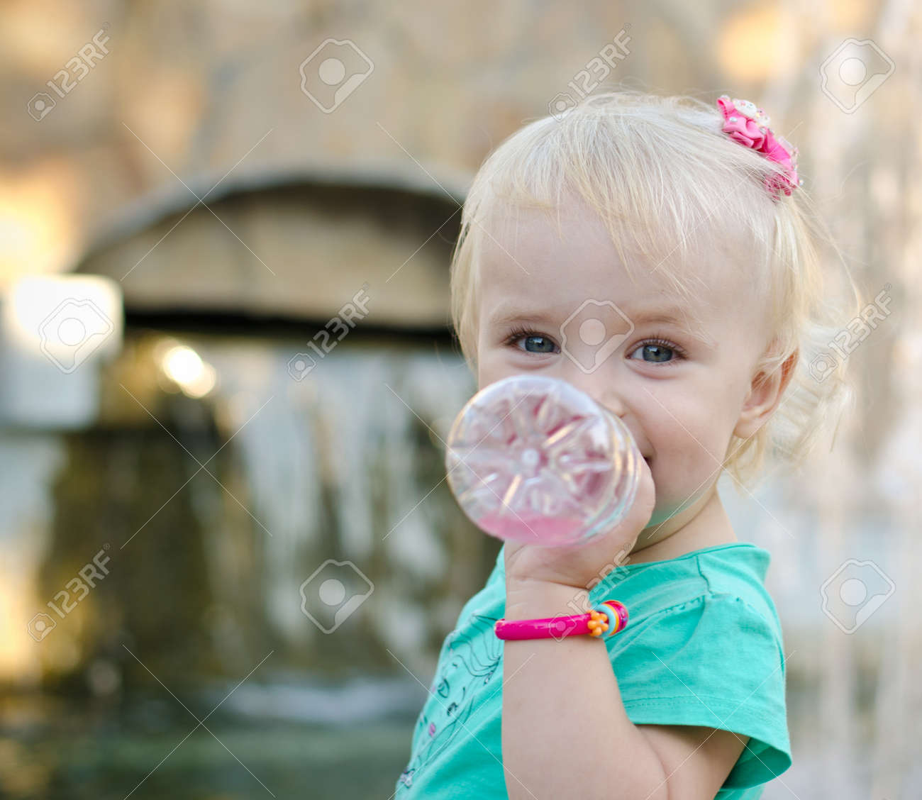Emotional Little Girl with funny Face Expression - 25546142