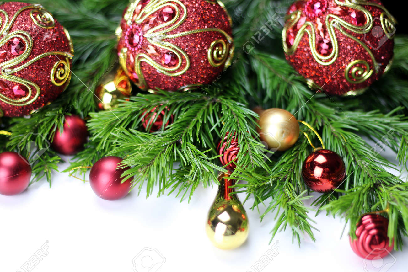 Multicolored Christmas Ornaments Made By Dressing The Christmas ...
