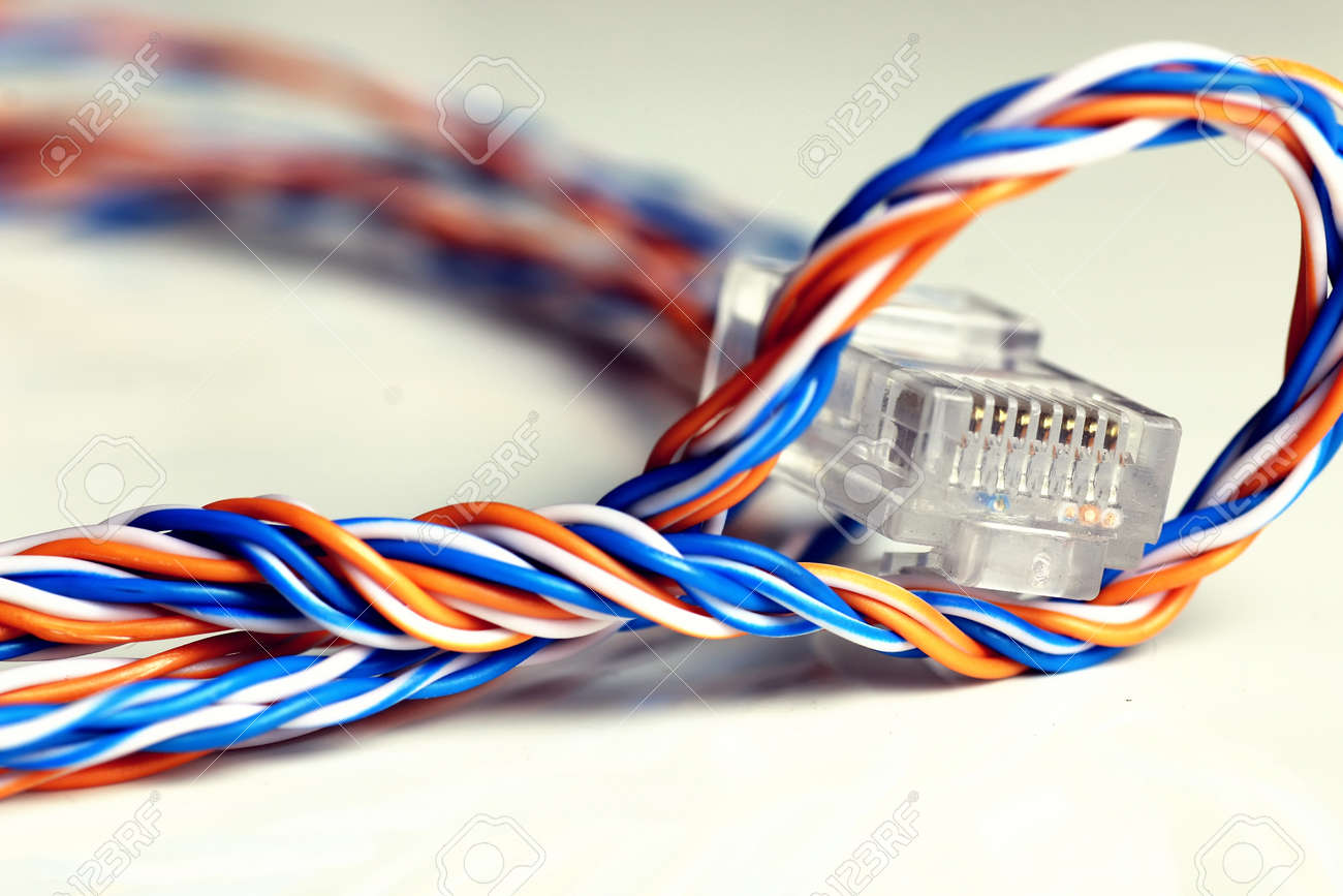 Plug Wire Color Lan Stock Photo, Picture And Royalty Free Image ...