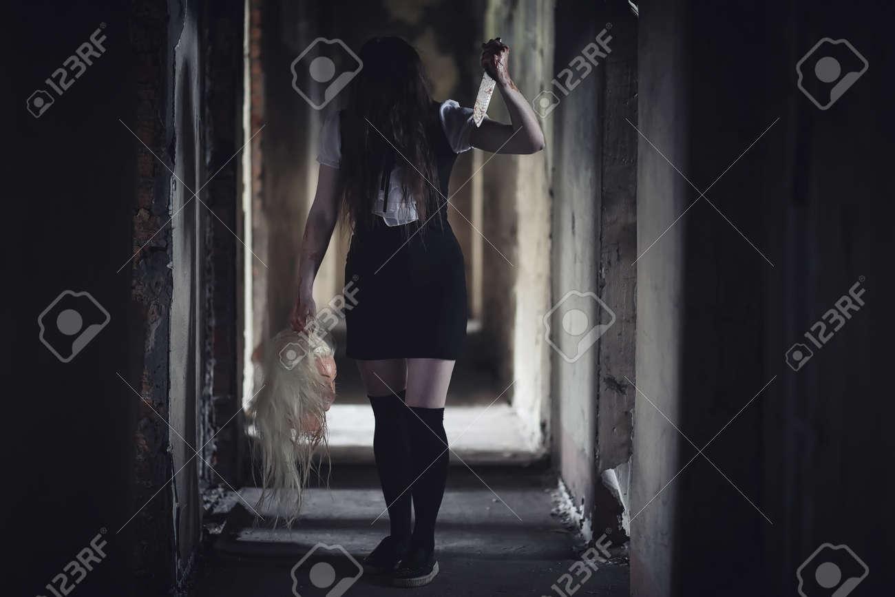 Asian ghost girl