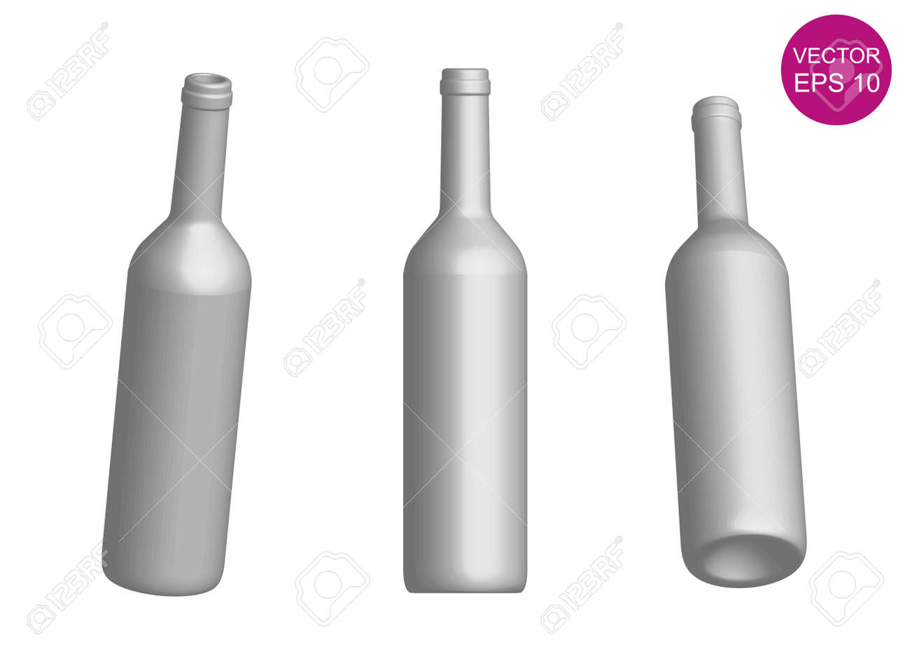 wine bottle template 3d royalty free cliparts vectors and stock
