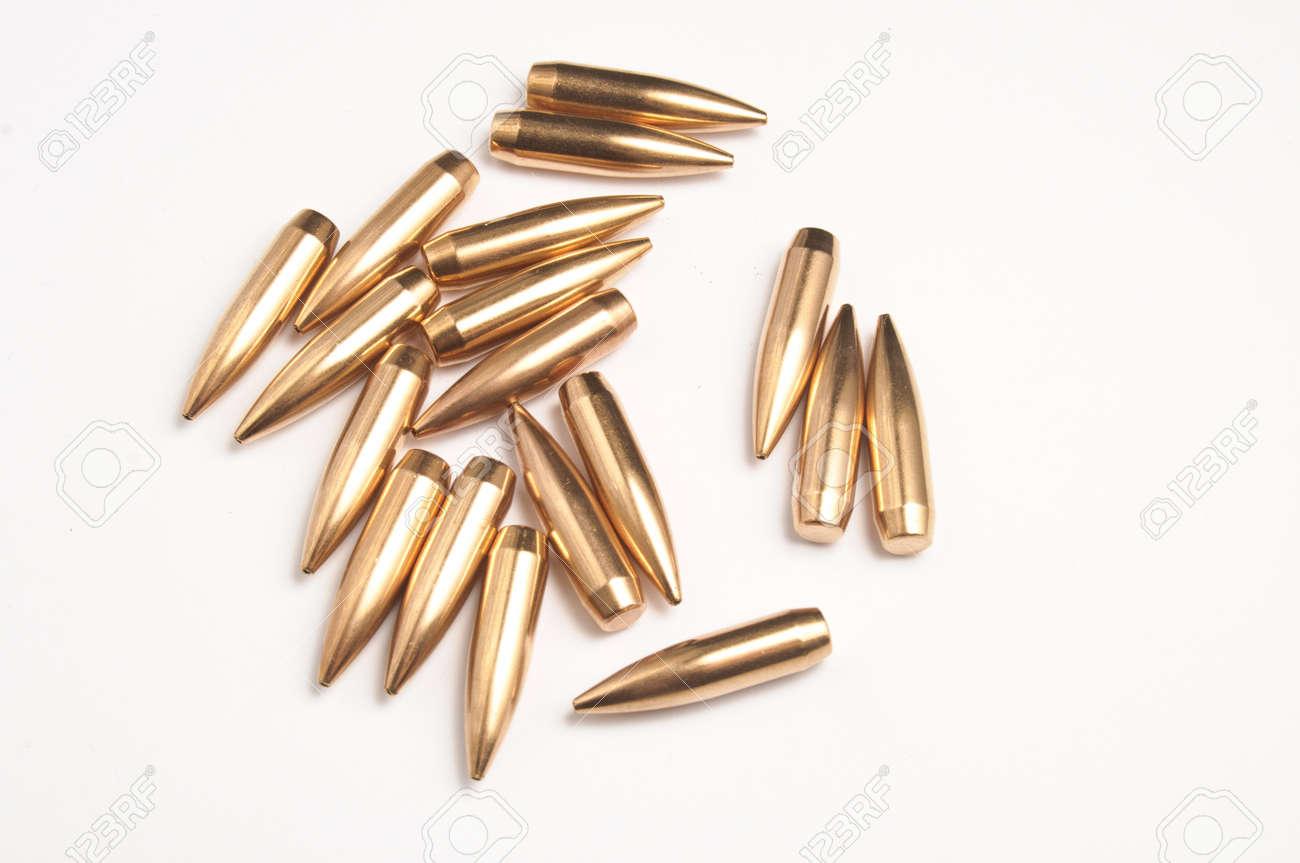Rifle bullet tips Stock Photo - 19935815