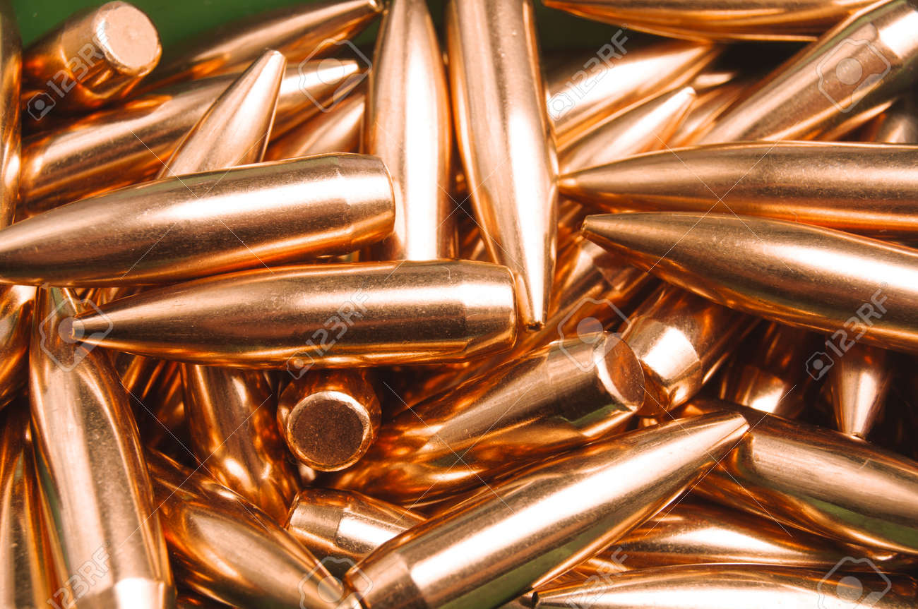Rifle bullet tips Stock Photo - 19935874