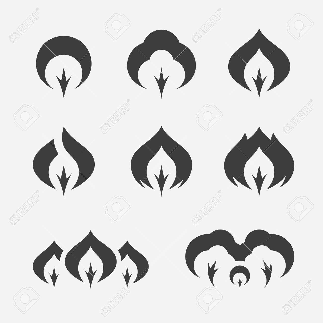 trees and forest simple vector logo set royalty free cliparts
