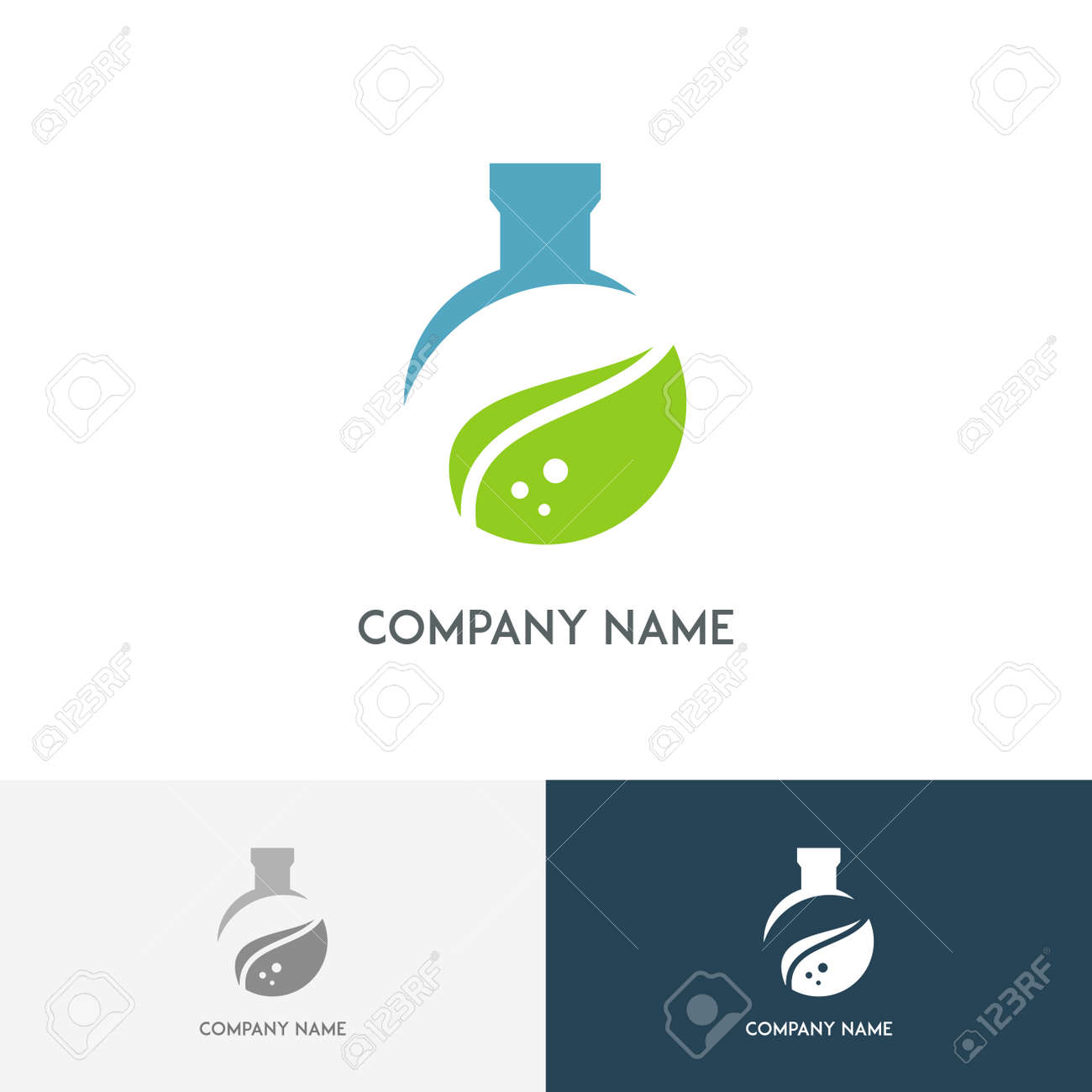 Logotipo De Laboratorio De Ecología - Tubo De Ensayo De Color Con La ...