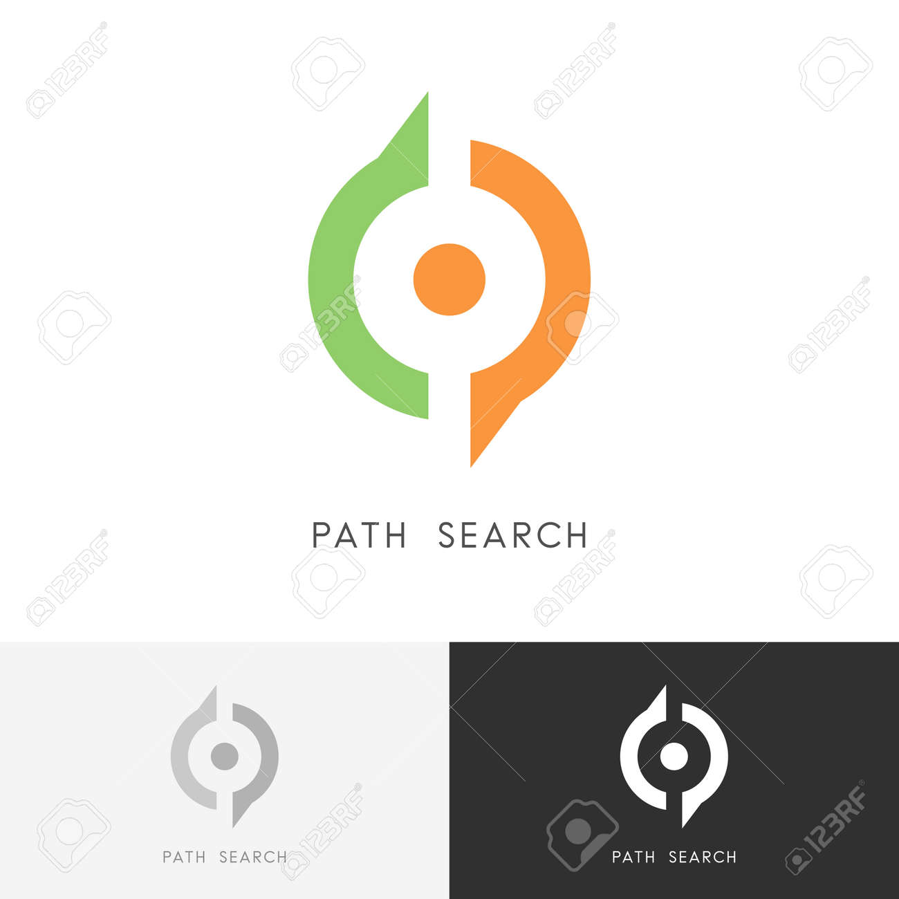 Path search pointer and magnifier symbol location and direction path search pointer and magnifier symbol location and direction icon stock vector buycottarizona Images