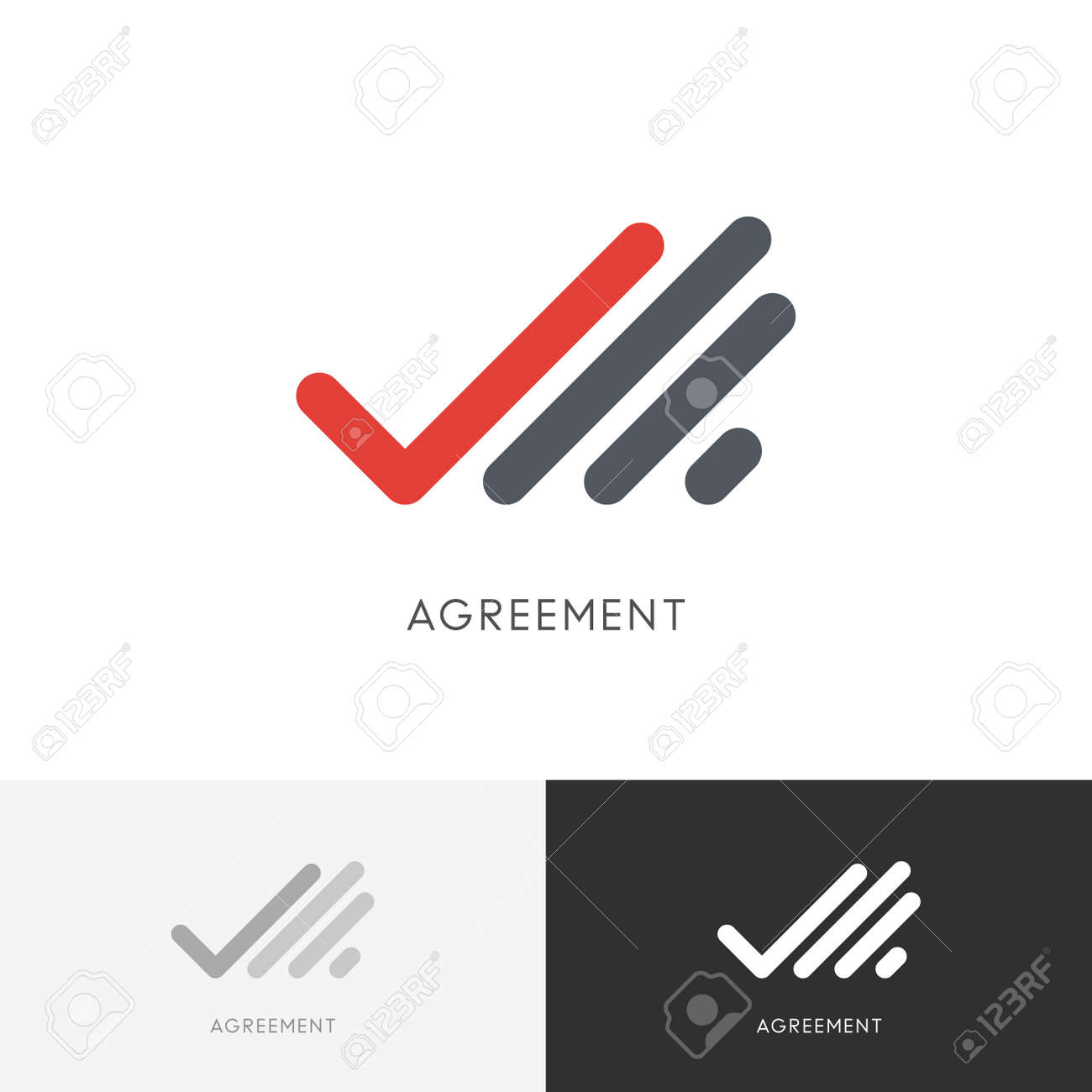 Agreement checkmark - hand with check mark or tick symbol  Business,